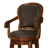 American Heritage Santos Bar Stool in Cona & Choclate Leather