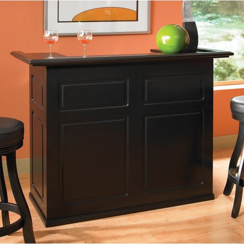 American Heritage Trenton Collection Bar with Fridge Pocket in Black