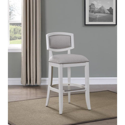 American Woodcrafters Amelia Barstool in White