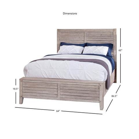 American Woodcrafters Aurora Whitewashed Panel Bed