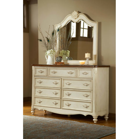 American Woodcrafters Chateau Triple Dresser
