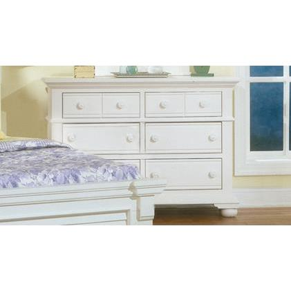 American Woodcrafters Cottage Traditions 6510 Double Dresser