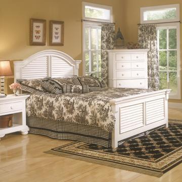 American Woodcrafters Cottage Traditions 6510 Panel Bed