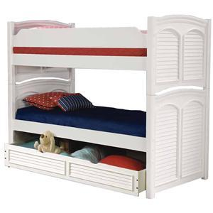 American Woodcrafters Cottage Traditions 6510 Twin Over Full Bunk Bed (For Use With Trundle)