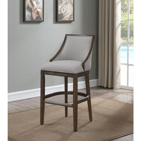 American Woodcrafters Gilford Barstool in Brown