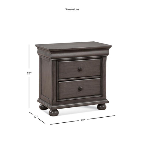 American Woodcrafters Hyde Park 2-drawer Nightstand
