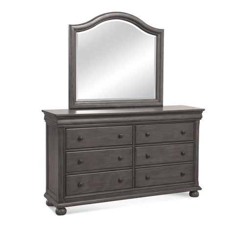American Woodcrafters Hyde Park Dresser and Mirror Combo