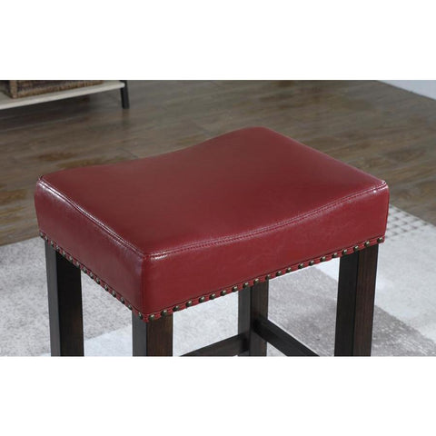 American Woodcrafters Jersey Backless Barstool in Crimson