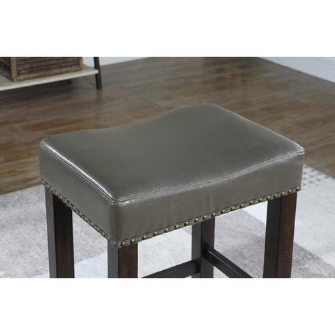 American Woodcrafters Jersey Backless Barstool in Grey