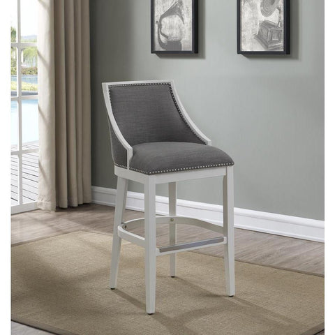American Woodcrafters Lanie Barstool in White