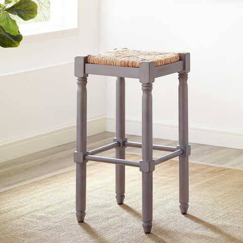 American Woodcrafters Poppy Gray Backless Stool