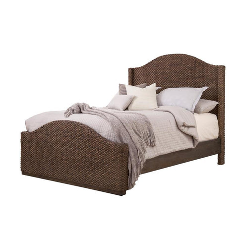 American Woodcrafters Seaside Woven Bed in Dark Rush