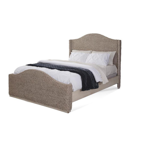 American Woodcrafters Seaside Woven Bed in Light Driftwood