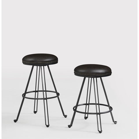 American Woodcrafters Tarlton Backless Barstool in Dark Gray