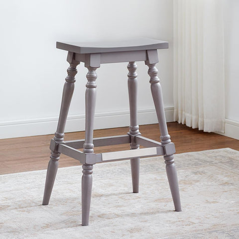 American Woodcrafters Yara Gray Backless Stool