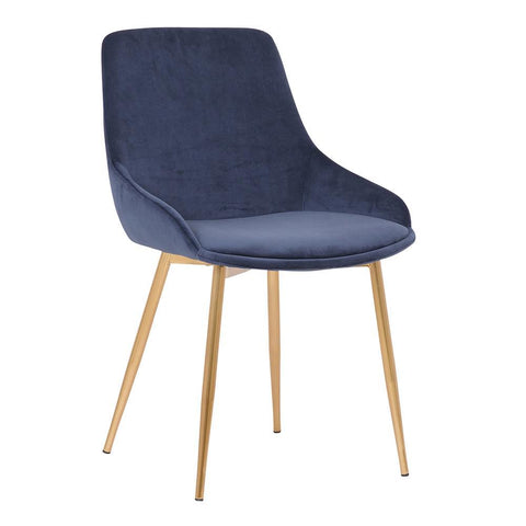 Armen Heidi Blue Velvet Dining Accent Chair