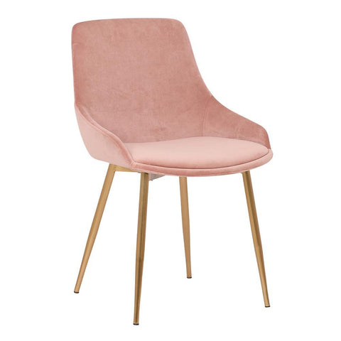 Armen Heidi Blush Velvet Dining Accent Chair