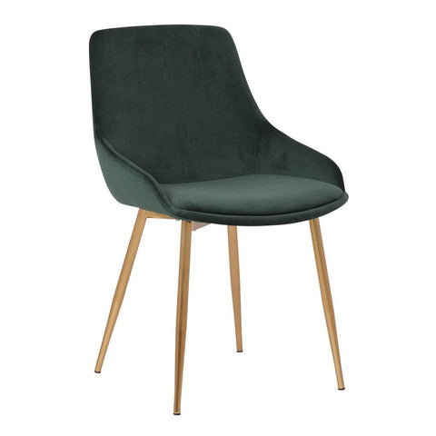 Armen Heidi Green Velvet Dining Accent Chair