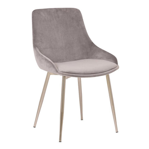 Armen Heidi Grey Velvet Dining Accent Chair