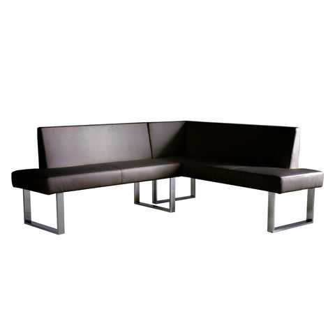 Armen Living Amanda Corner Sofa In Black