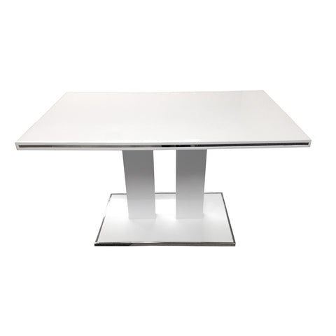 Armen Living Amanda Dining Table In White