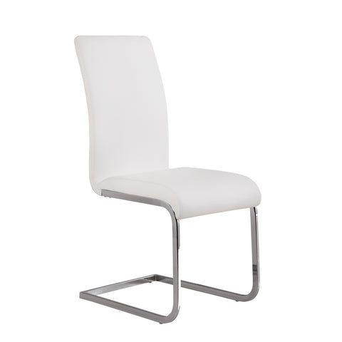 Armen Living Amanda Side Chair Set Of Two In White