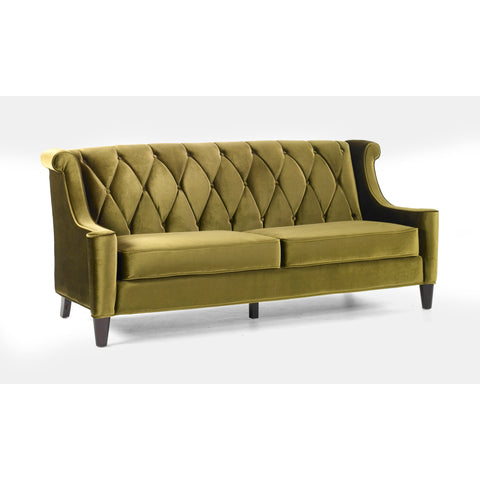 Armen Living Barrister Sofa Green Velvet