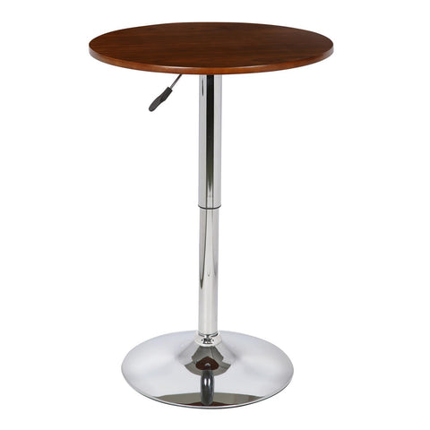 Armen Living Bentley Adjustable Pub Table in Walnut & Chrome