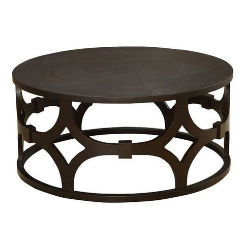 Armen Tuxedo Round Coffee Table