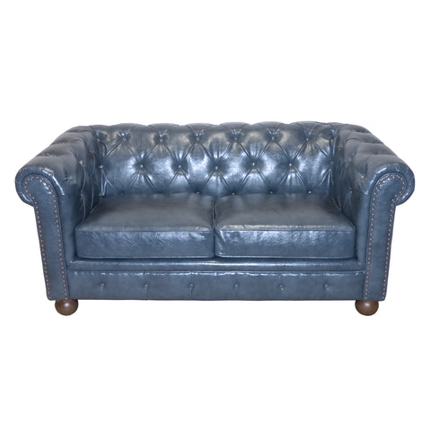 Armen Living Winston 1060 Vintage Loveseat In Blue