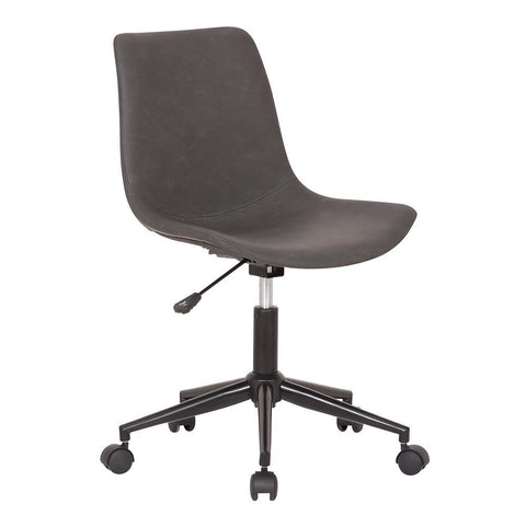 Armen Optima Adjustable Grey Faux Leather Task Chair