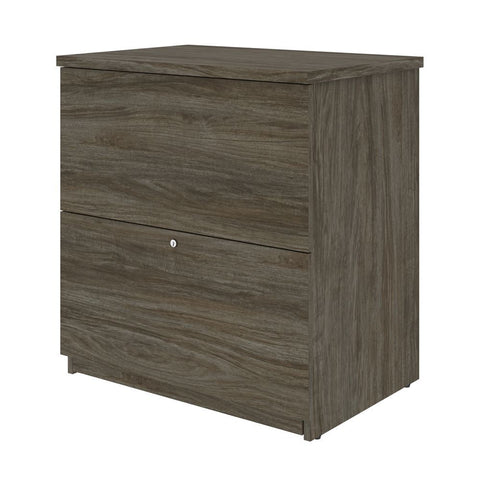 BESTAR Universel 29W Standard Lateral File Cabinet in walnut grey