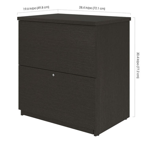 BESTAR Universel Standard Lateral File Cabinet in deep grey