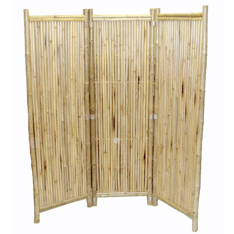 Bamboo 3 Panel Screen Sm Round Sticks