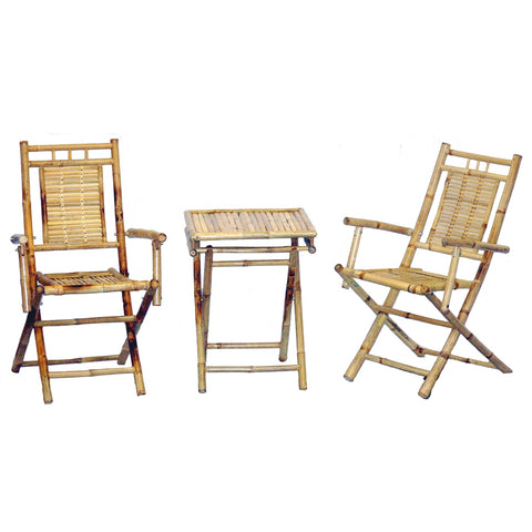 Bamboo 3 Piece Bistro Set