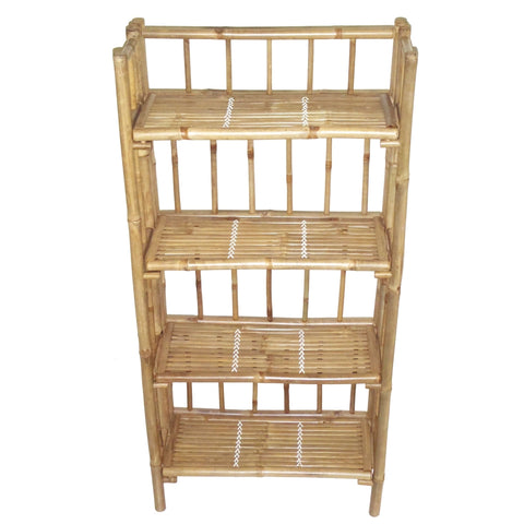 Bamboo 4 Tier Folding Shelf