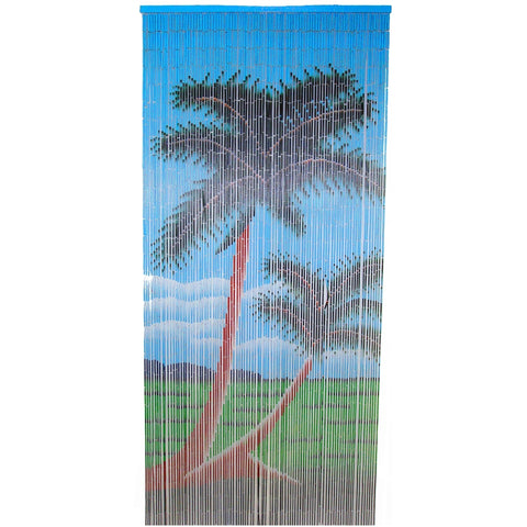 Bamboo Double Palm Tree Curtain