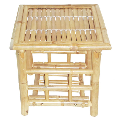 Bamboo Foldig End Table