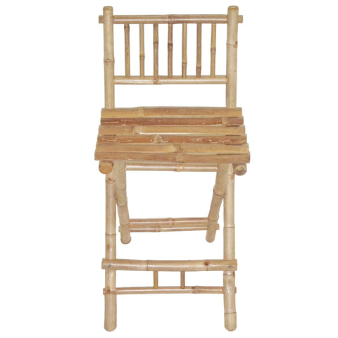 Bamboo Folding Bar Stool