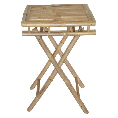 Bamboo Folding Table Small Square