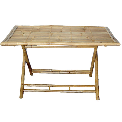 Bamboo Large Rectangular Folding Table