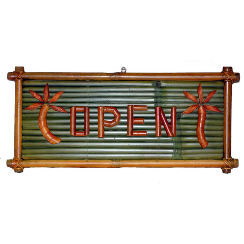 Bamboo Open / Closed Sign