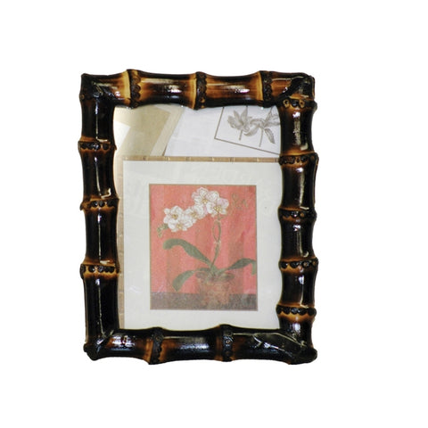 Bamboo Root Dark Picture Frame
