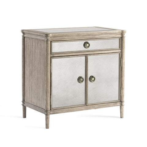 Basset Mirror Abrielle Chairside Commode in White Peony Tea