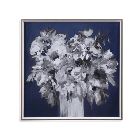 Basset Mirror Al Fresco Style in Black/White/Dark Blue