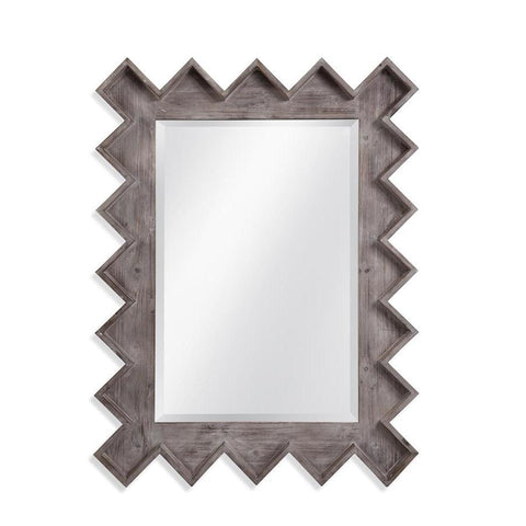 Basset Mirror Beckerson Wall Mirror in Distressed Grey