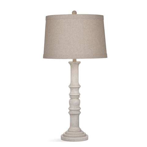 Basset Mirror Bricolage Augusta Table Lamp in White Wash