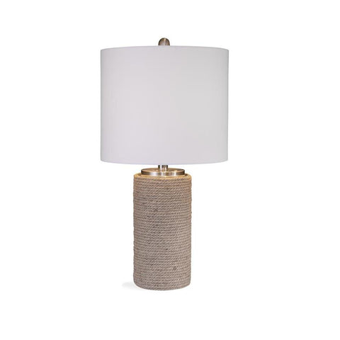 Basset Mirror Bricolage Lakeland Table Lamp in Natural Rope