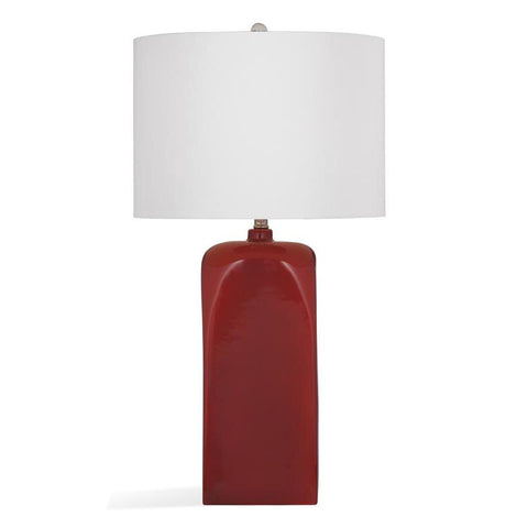 Basset Mirror Ceramic Roma Table Lamp in Orange