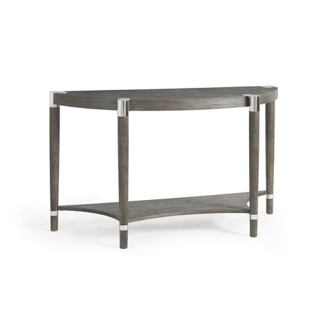Basset Mirror Duvall Demilune Console in Coffee Bean